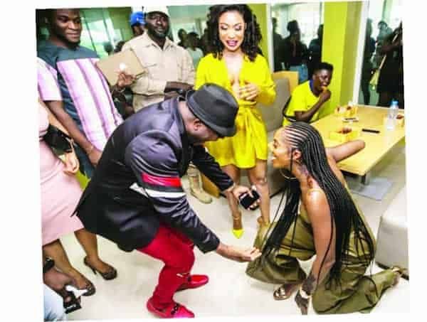 Photo of Tiwa Savage showed humility when she kneeled to greet me – Sir Shina Peters
