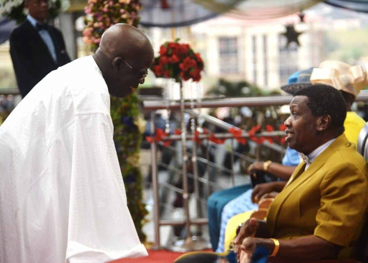 Adeboye denies calling Tinubu on phone over Ambode