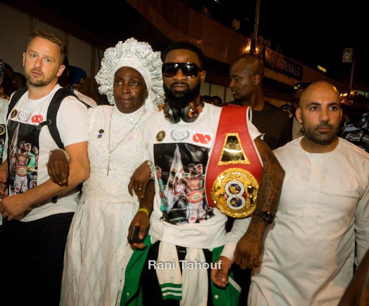 IBF champion Larry Ekundayo arrives Nigeria in style (Photos)