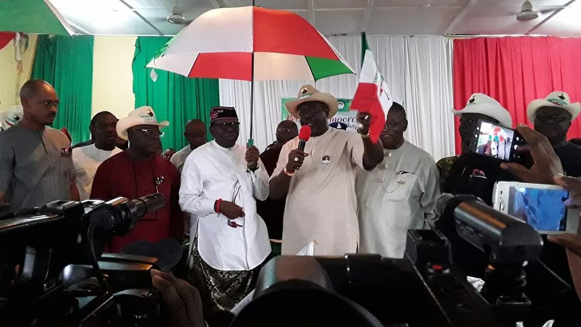 Photo of Senator Etang of Akwa Ibom state dumps APC for PDP
