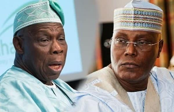 "Photo of ""We are on our knees"": Atiku's supporters beg Obasanjo"