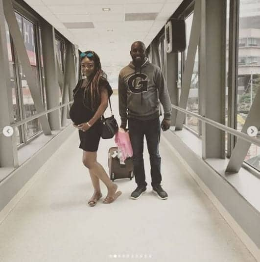 Photo of Toke Makinwa's ex welcomes baby 4 months after wedding with wife