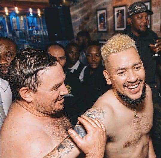 Photo of South African rapper, AKA caught with only undies on in gay club