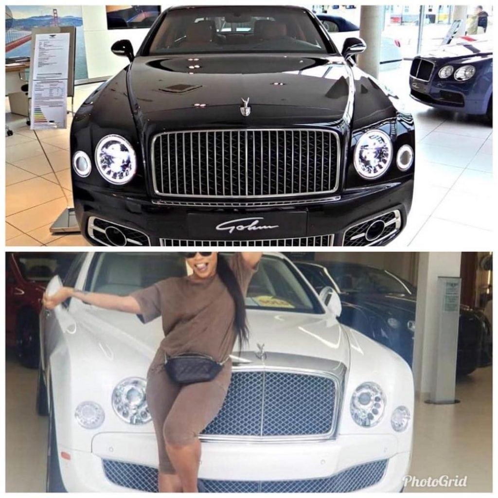 Scandal Trails Linda Ikeji's N120m Brand New Bentley