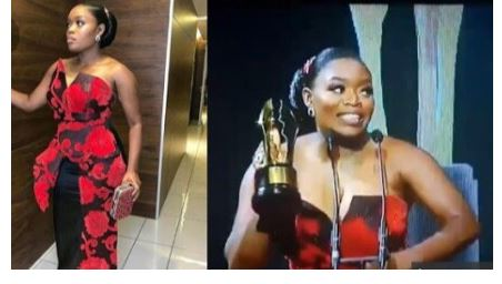 Photo of Bisola Aiyeola's dramatic reaction at AMVCA as she takes home award and car