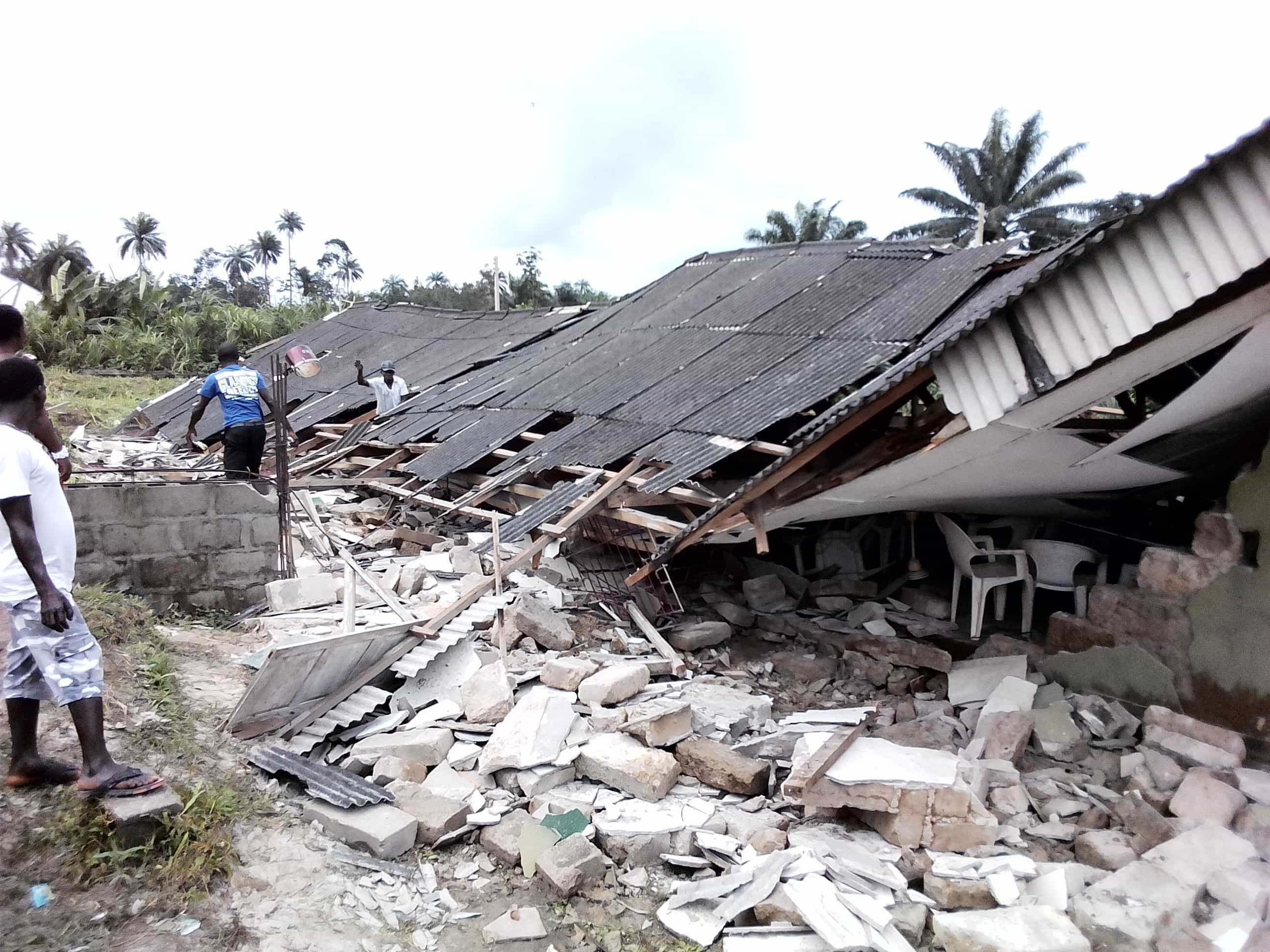 Photo of 11-year-old dies as Catholic Church collapses in Delta