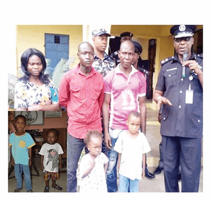 Photo of Children sold by a tenant for N200k, reunite with their parents