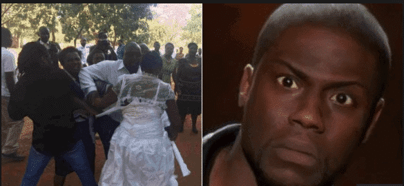 Photo of Bride and groom's mother fight dirty on wedding day – Nigerian Man Claims
