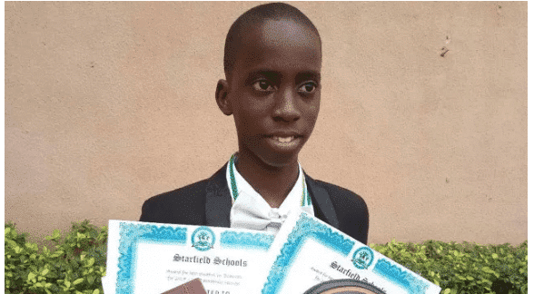 Photo of 15-year-old boy who passed JAMB & WAEC with A's denied admission