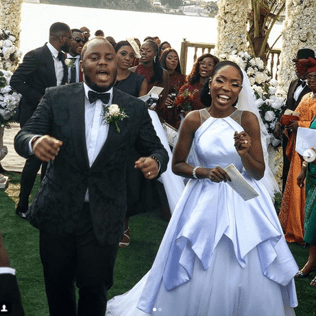 Photo of First photos from Lala Akindoju and Chef Fregz white wedding