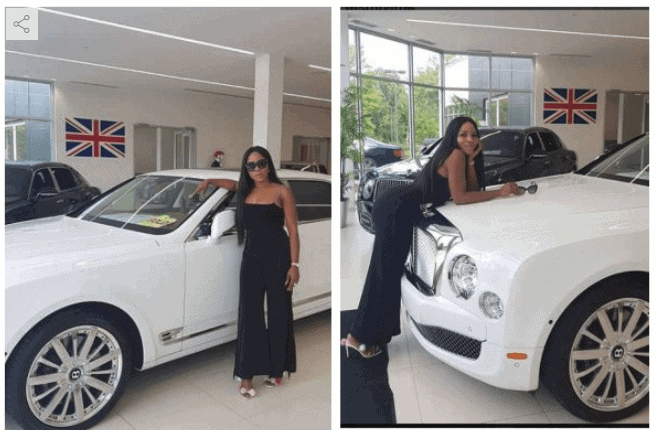 Photo of Photos: See the Bentley Linda Ikeji bought for her son, Jayce Jeremi
