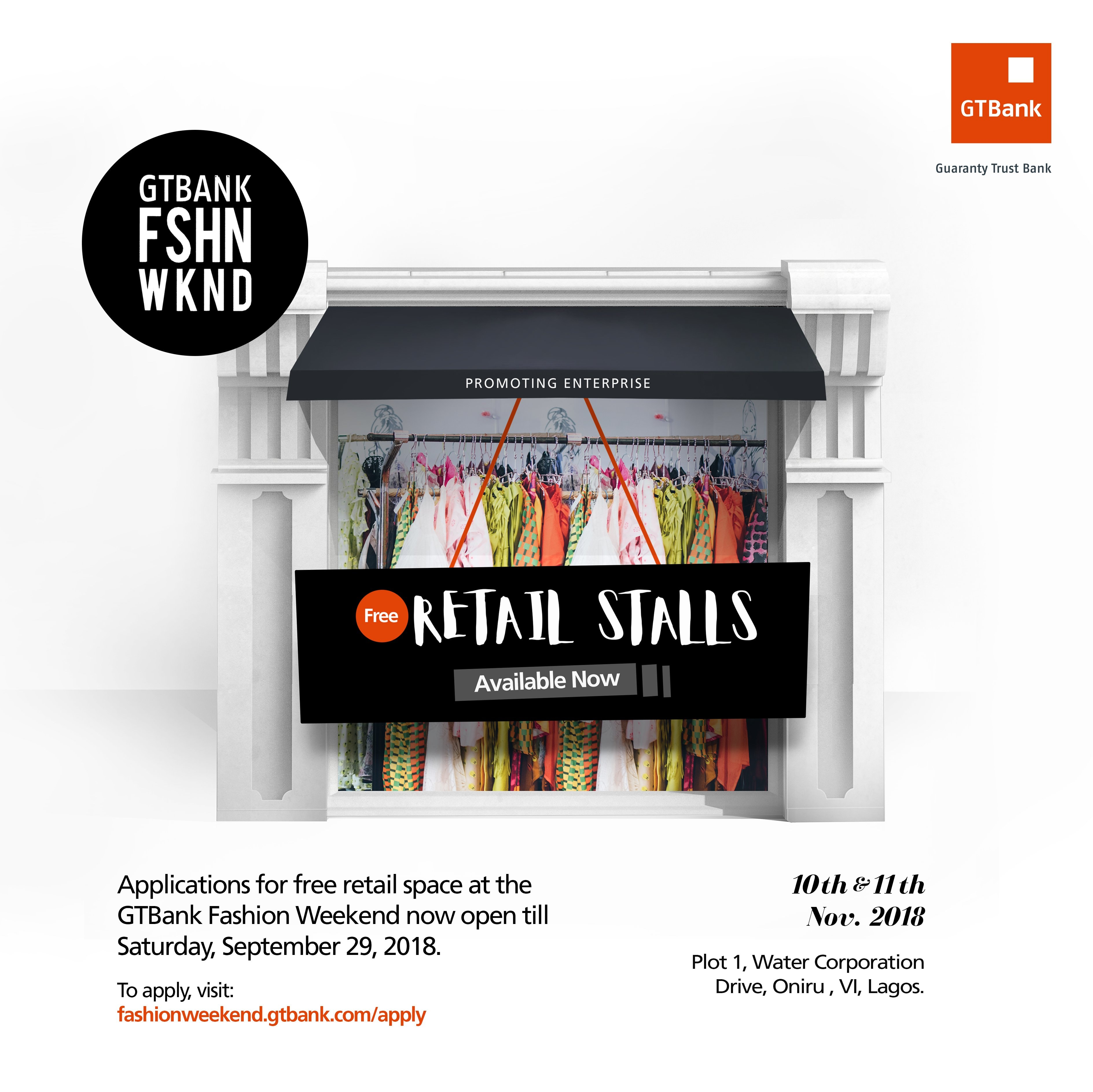 Photo of You can now apply for a free retail stall at the  2018 GTBank fashion weekend