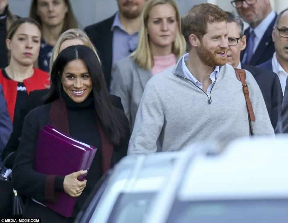 Photo of Meghan Markle pregnant with Prince Harry's first child