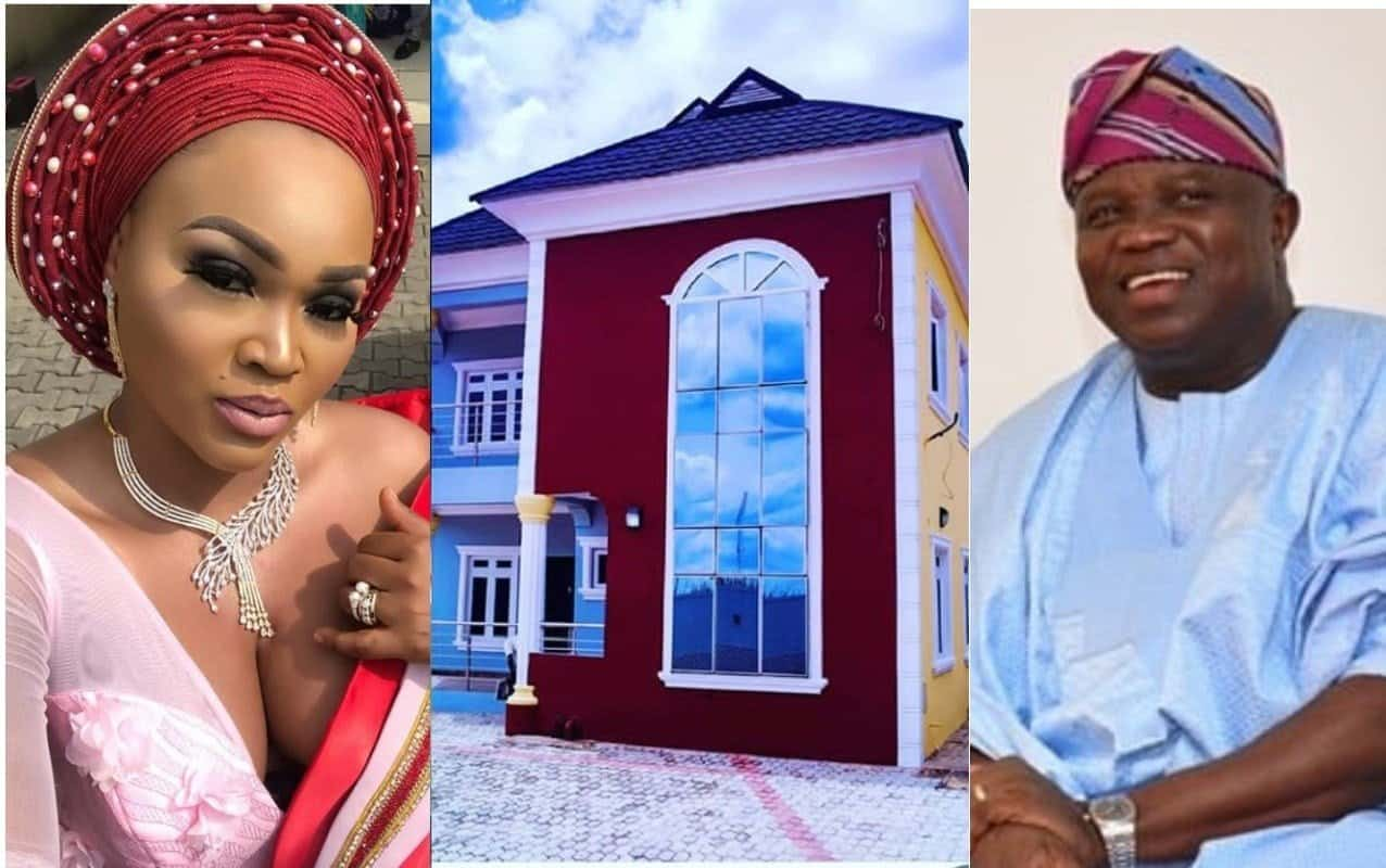 Photo of Nigerians mock Mercy Aigbe for saying her hardwork got her the mansion