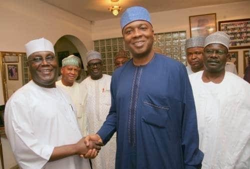 """Photo of """"We will work with you to ensure you emerge as Nigeria's next president"""" – Saraki congratulates Atiku"""