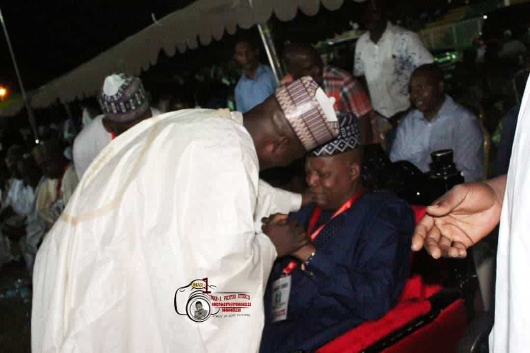Photo of Borno state governor, Kashim Shettima, weeps at APC primaries