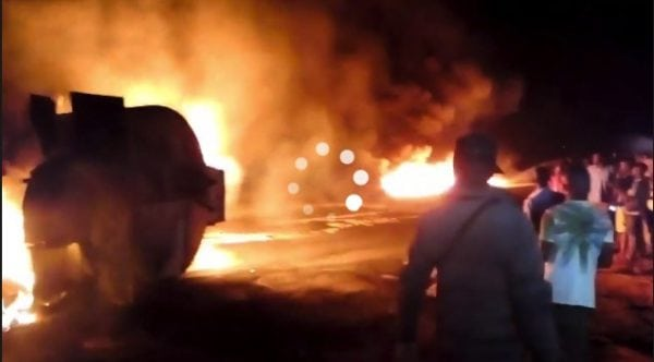 Photo of Petrol tanker explodes in Akure (Photos)