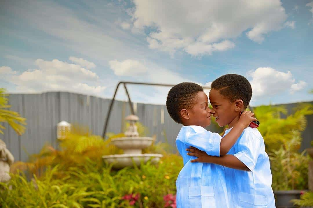 Photo of TY Bello's twin boys turn four (photo)