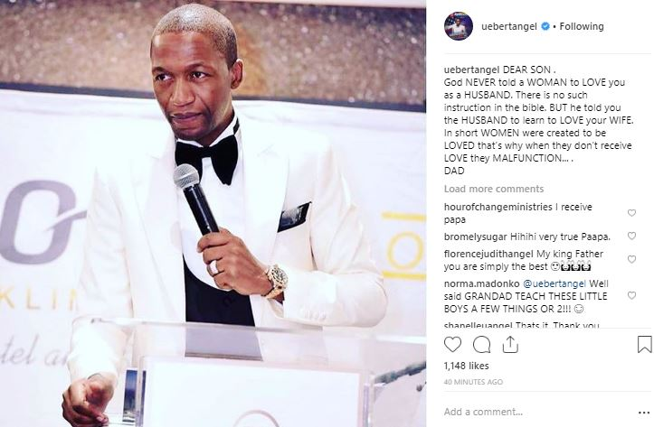 Image result for God never told a woman to love her husband – Pastor Uebert Angel