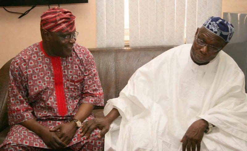 Photo of Obasanjo forgives Atiku after a close door meeting