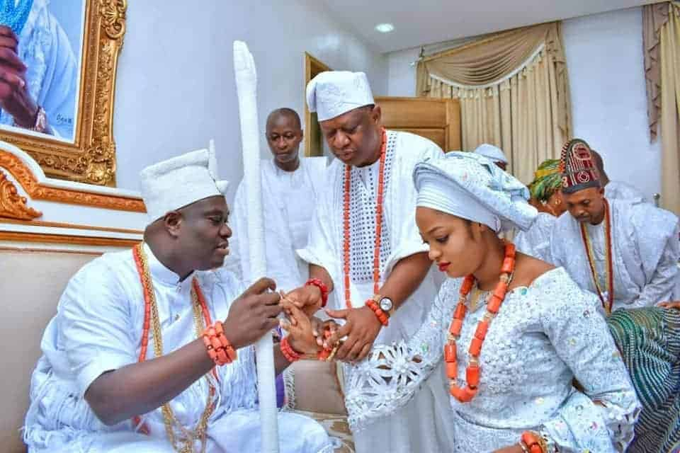 Photo of First photos from wedding of Ooni of Ife and his new queen