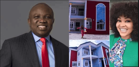 Photo of They say Mercy Aigbe's mansion was bought by Governor Ambode (Details, reactions)