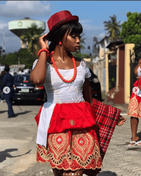 Photo of BamBam steps out in stunning traditional Igbo outfit (PHOTOS)