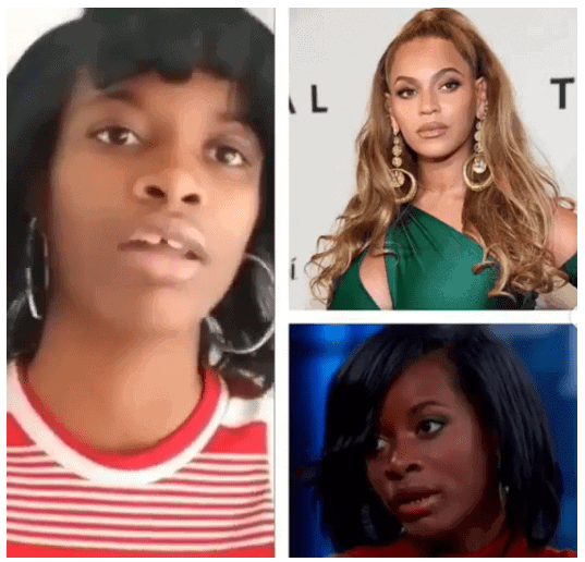 Photo of Black girl who is ashamed of black people, drags Beyonce