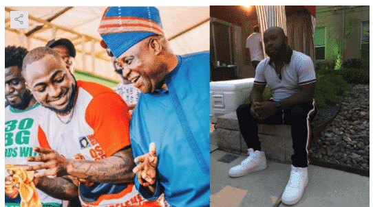 Photo of Osun election: Drama between Davido and a friend over PDP's Adeleke