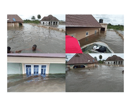 Photo of Residents swim to their houses as flood sacks Delta communities