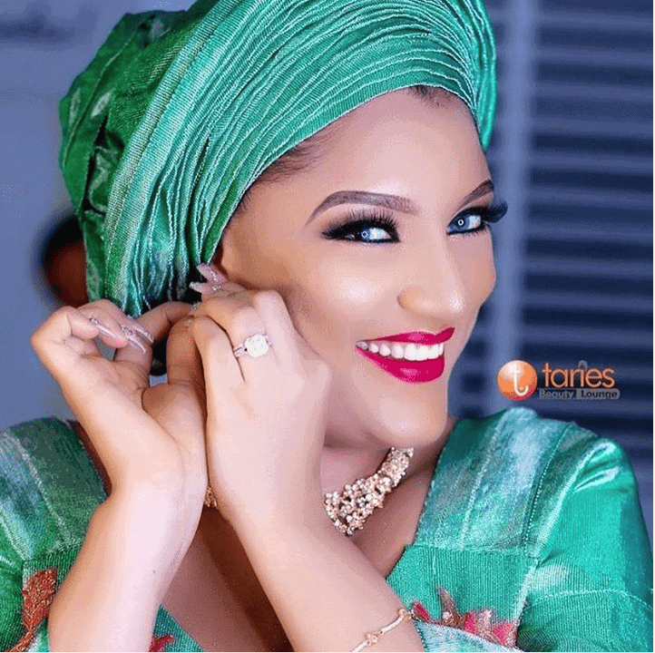 Photo of Gifty Powers stuns in bridal-themed photos
