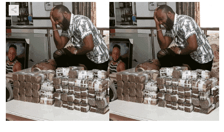 Photo of Kcee gets backlash for flaunting millions on Instagram