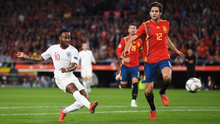 Photo of Raheem Sterlin scores twice as England beat Spain 3-2