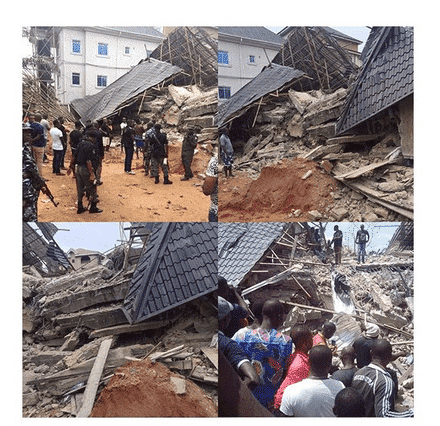 Photo of 11 foreigners trapped as building collapses in Anambra
