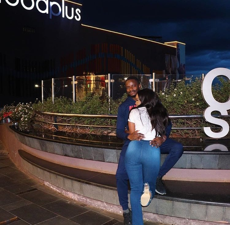 Photo of CeeC and Leo cuddle as they vacation in Nairobi