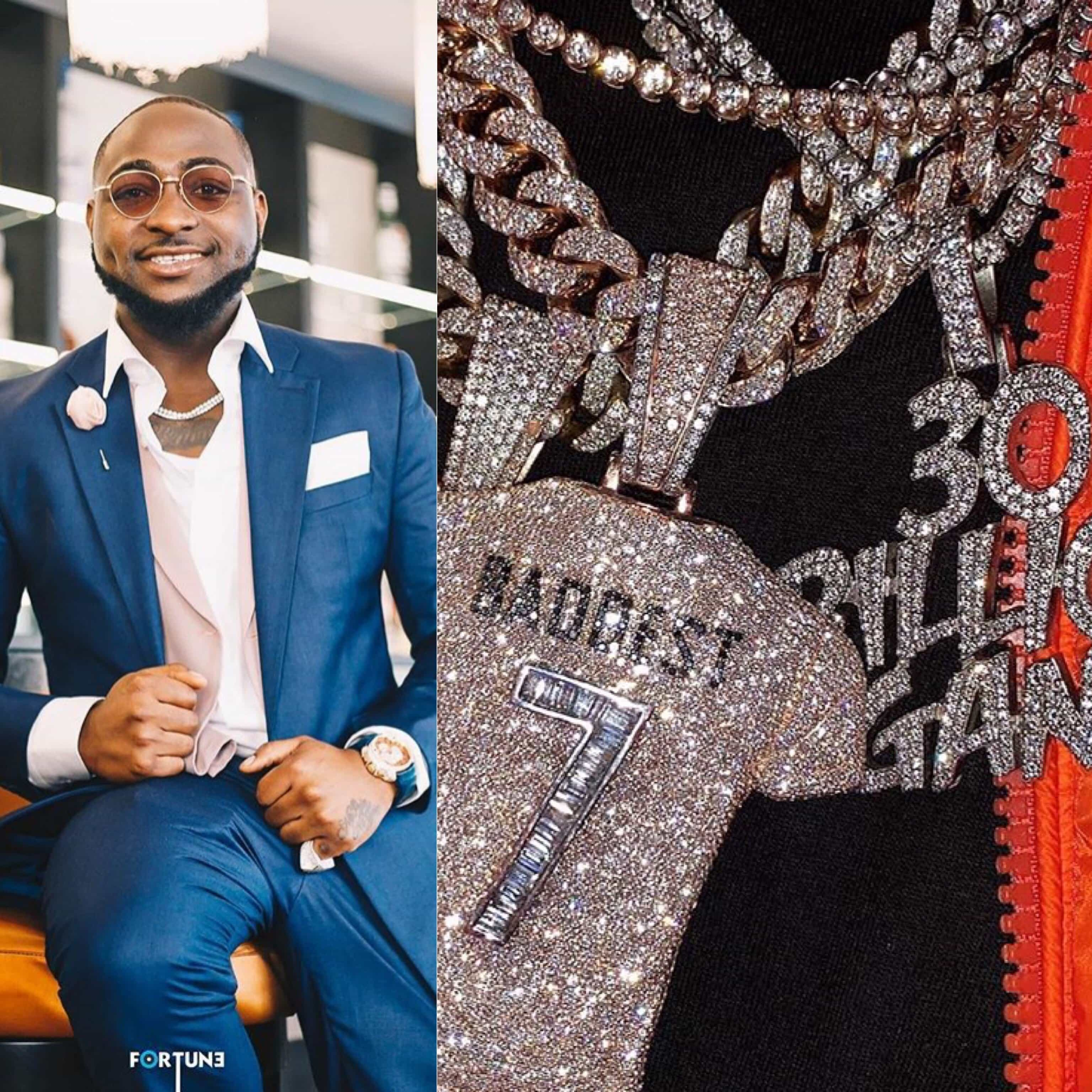 Photo of Davido flaunts diamond neckpieces and $300,000 Richard Mille watch as early birthday gifts