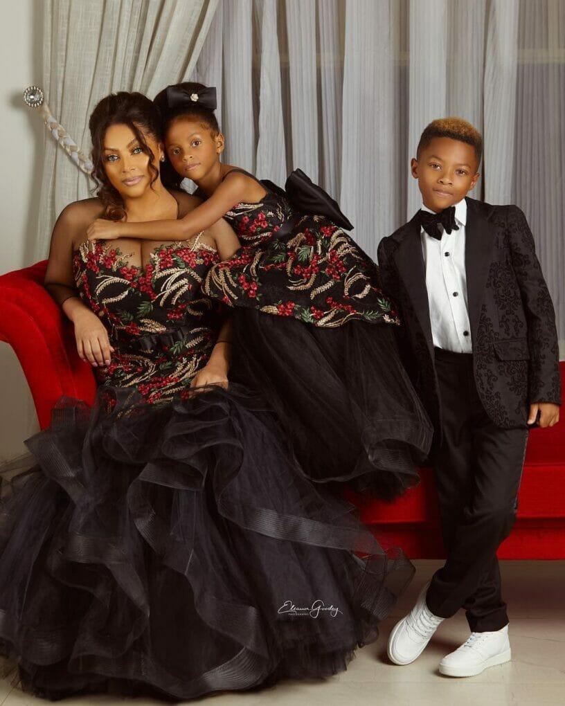 Photo of Lola Omotayo-Okoye releases beautiful family portraits with her kids