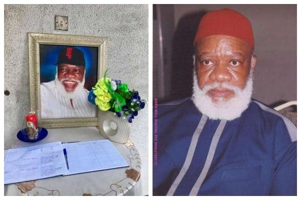 Photo of Ojukwu's first son, Sylvester Debe Ojukwu has died
