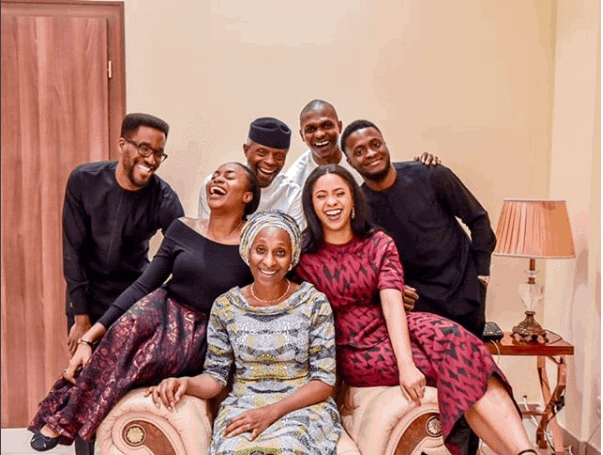 Photo of The Osinbajo's celebrate 29th wedding anniversary with this beautiful family photo