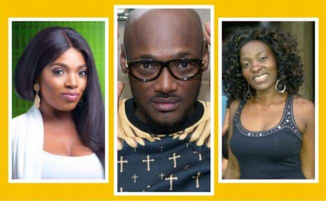 Photo of 2face Idibia in tears as his wife, Annie, and his babymama, Pero, end age-long rift