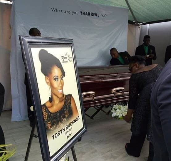 Photo of Tosyn Bucknor finally laid to rest (Photos)