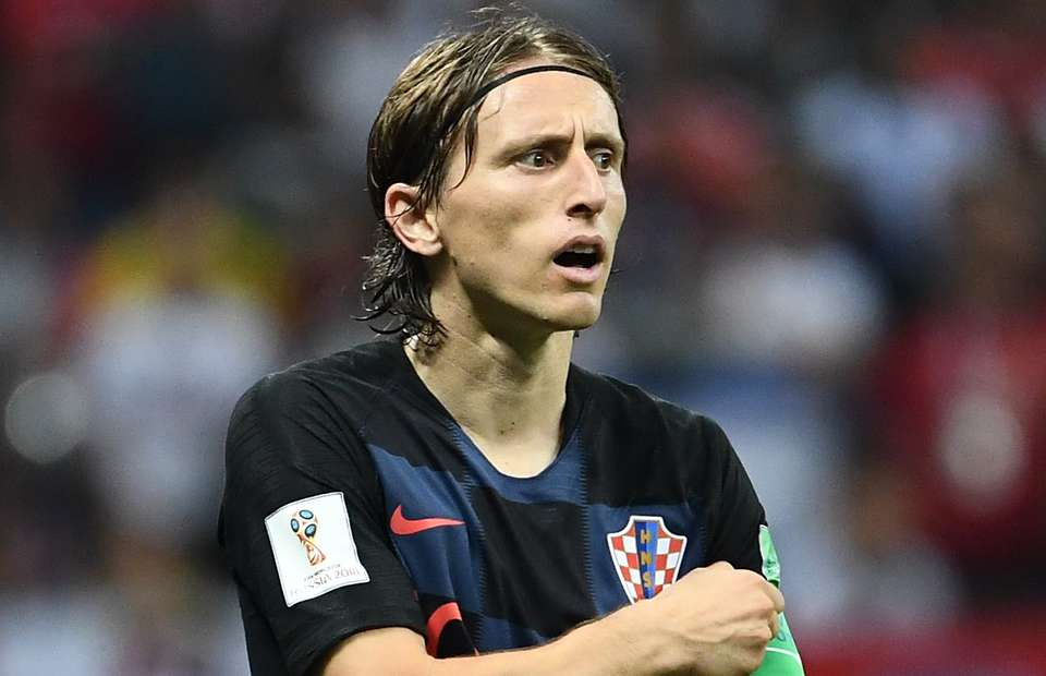 Modric reacts to England's 2-1 win over Croatia