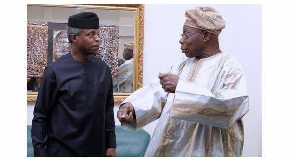 Obasanjo speaks on meeting Osinbajo behind closed door