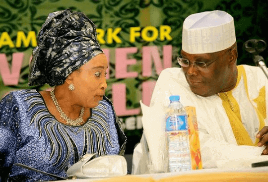 My husband is not a thief and would never steal if elected - Atiku's wife