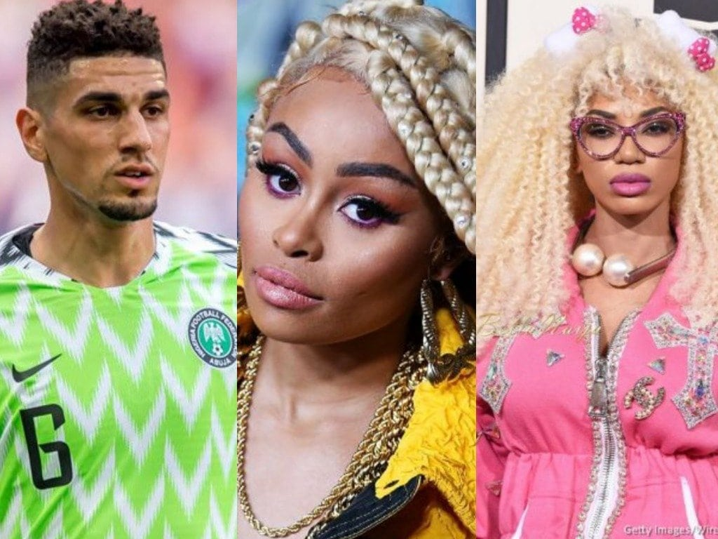 Photo of Super Eagles defender, Leon Balogun kicks against launch of bleaching cream in Lagos by Blac Chyna and Dencia