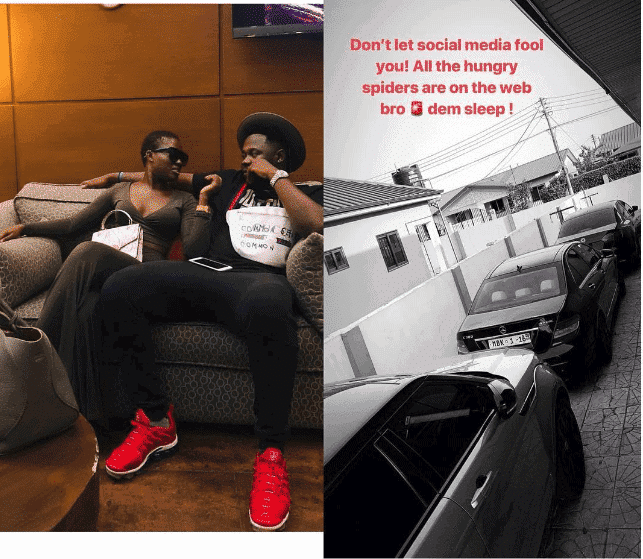 Photo of Fella Makafui new boyfriend reacts after sugar daddy collect girlfriend's cars