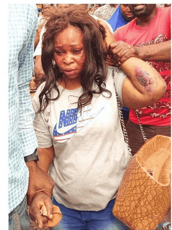 Photo of Lady nabbed after stealing a baby