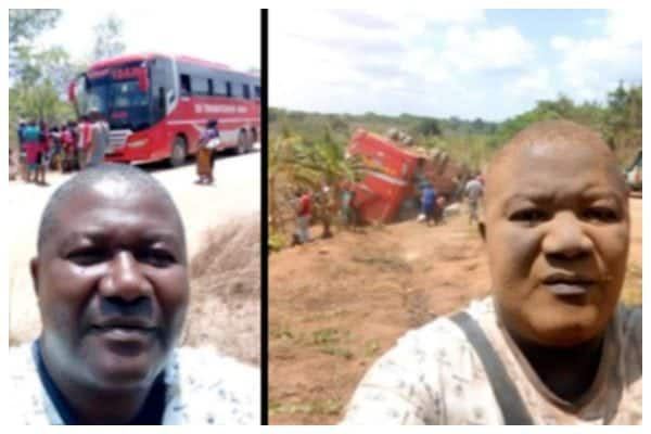 Photo of See how a man looked like after taking before and after bus accident selfies