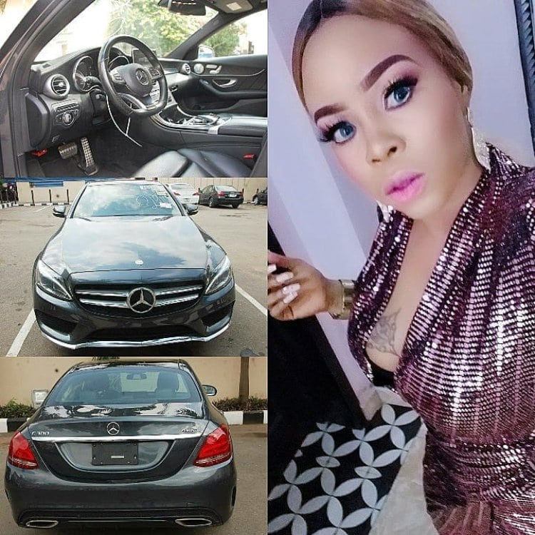 Photo of Actress gifts herself new Benz for the new month
