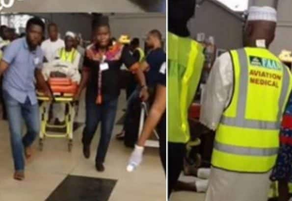 Photo of Lagos airport staff slumps and dies